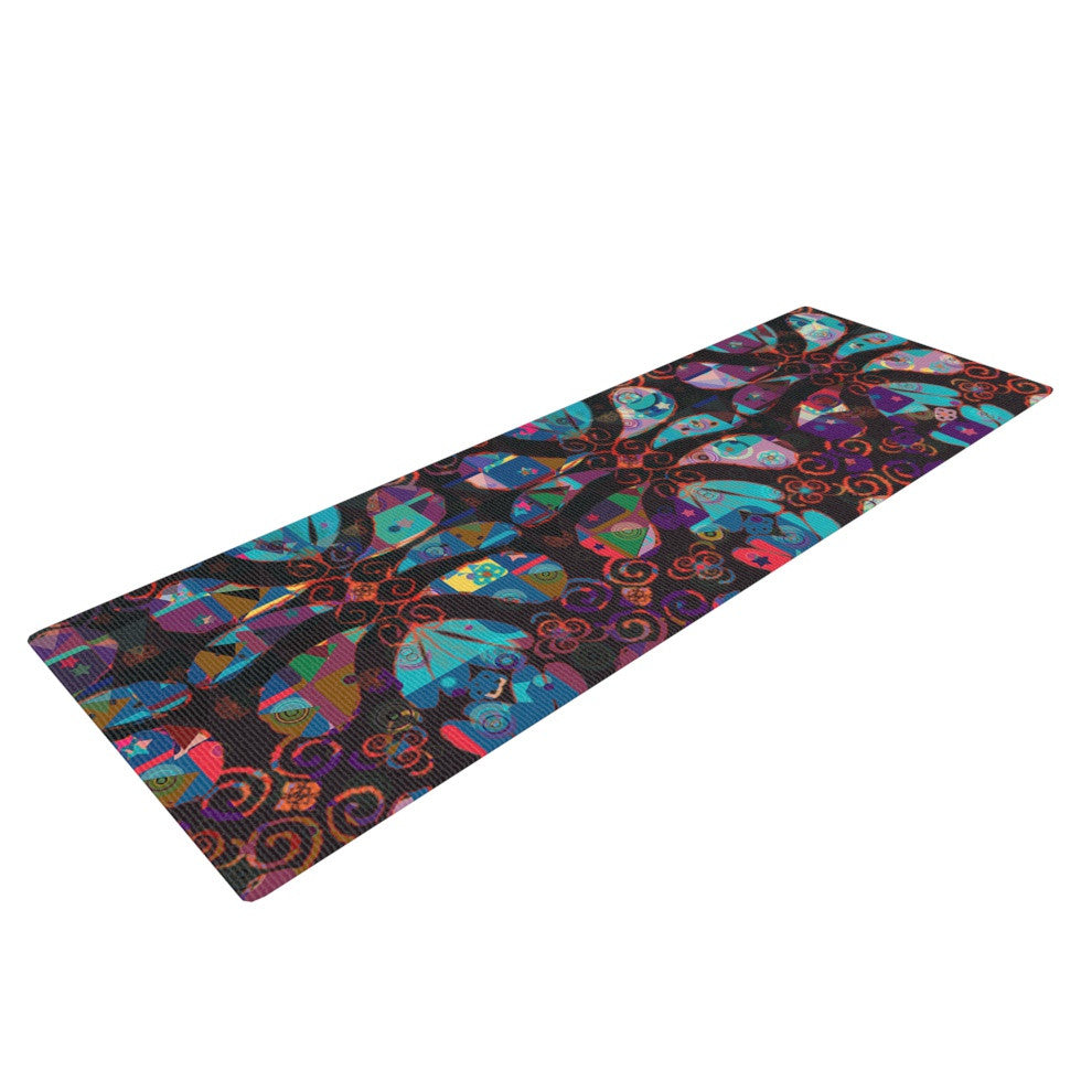 "Suzanne Carter ""Pattern"" Multicolor Abstract Yoga Mat - KESS InHouse  - 1"