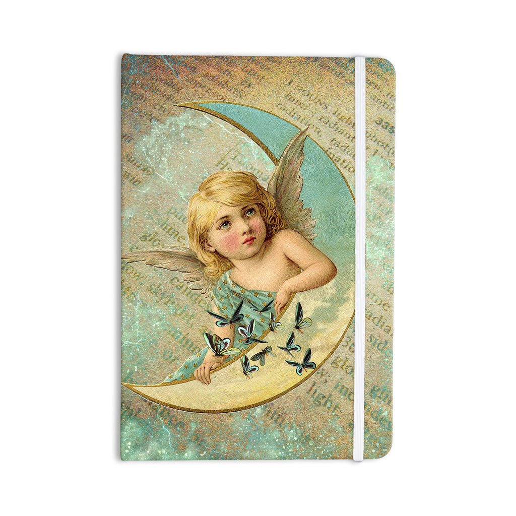 "Suzanne Carter ""Angel"" Teal Yellow Everything Notebook - KESS InHouse  - 1"