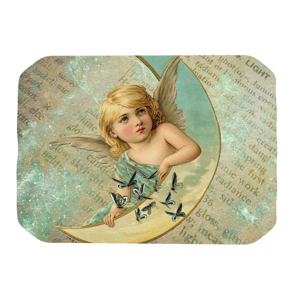 "Suzanne Carter ""Angel"" Teal Yellow Place Mat - KESS InHouse"