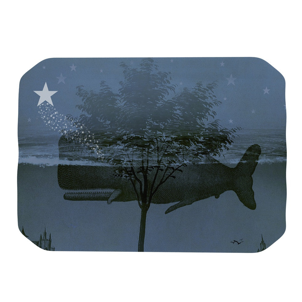 "Suzanne Carter ""Whale Watch"" Blue Illustration Place Mat - KESS InHouse"
