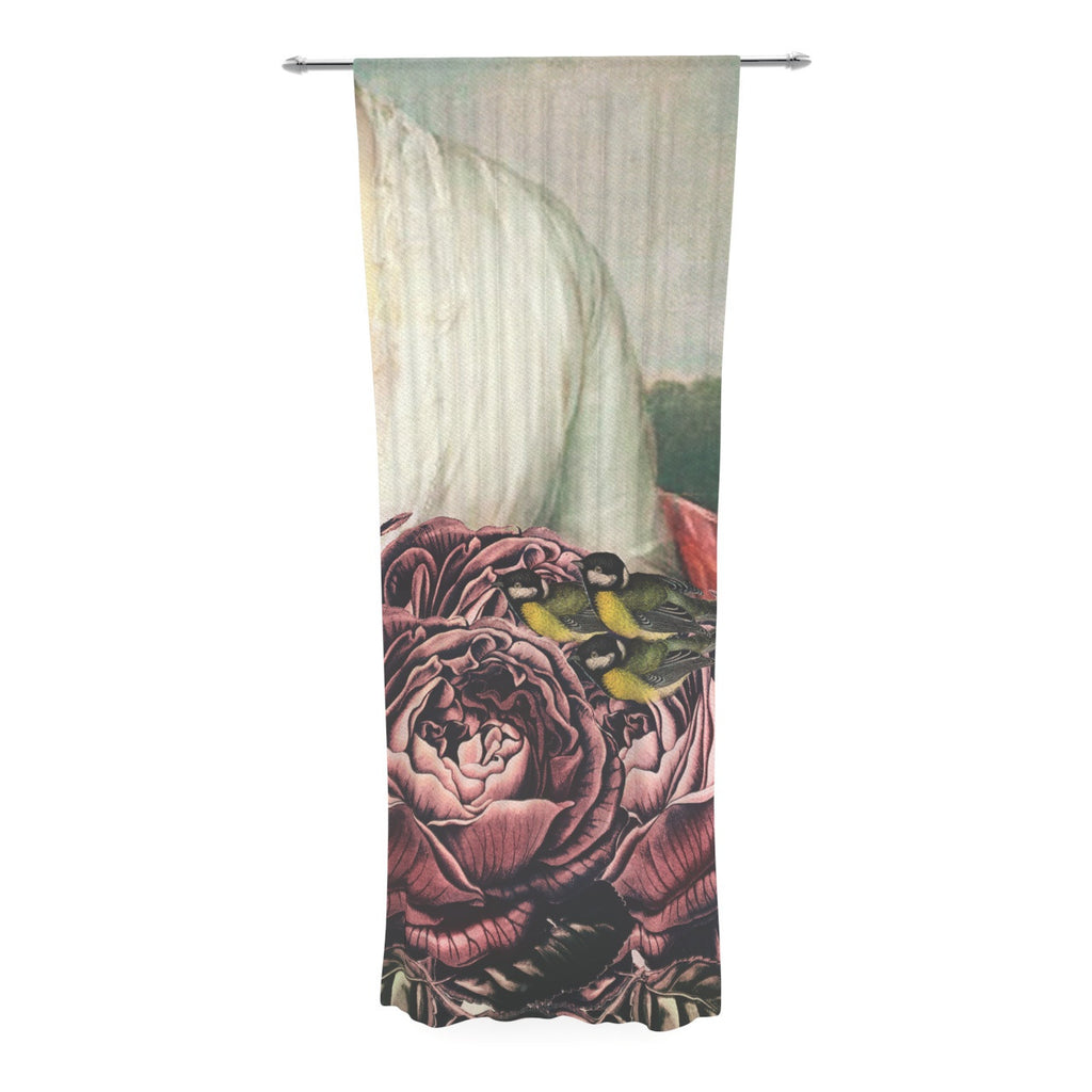 "Suzanne Carter ""The Bouquet"" Decorative Sheer Curtain - KESS InHouse  - 1"