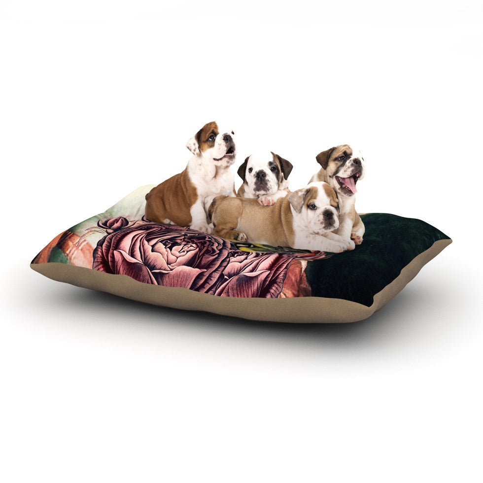 "Suzanne Carter ""The Bouquet"" Dog Bed - KESS InHouse  - 1"