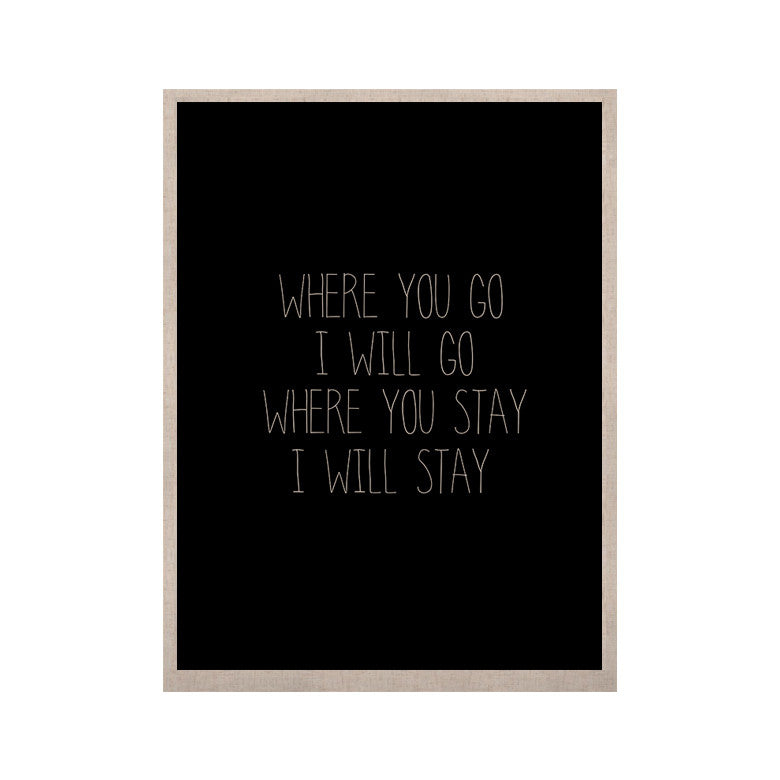 "Suzanne Carter ""Where You Go"" Typography KESS Naturals Canvas (Frame not Included) - KESS InHouse  - 1"