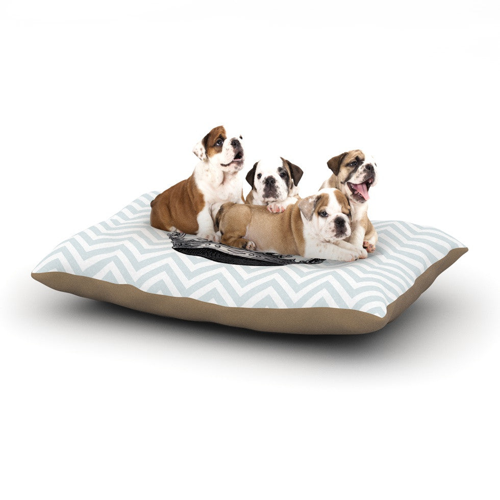 "Suzanne Carter ""Crown"" Blue Black Dog Bed - KESS InHouse  - 1"