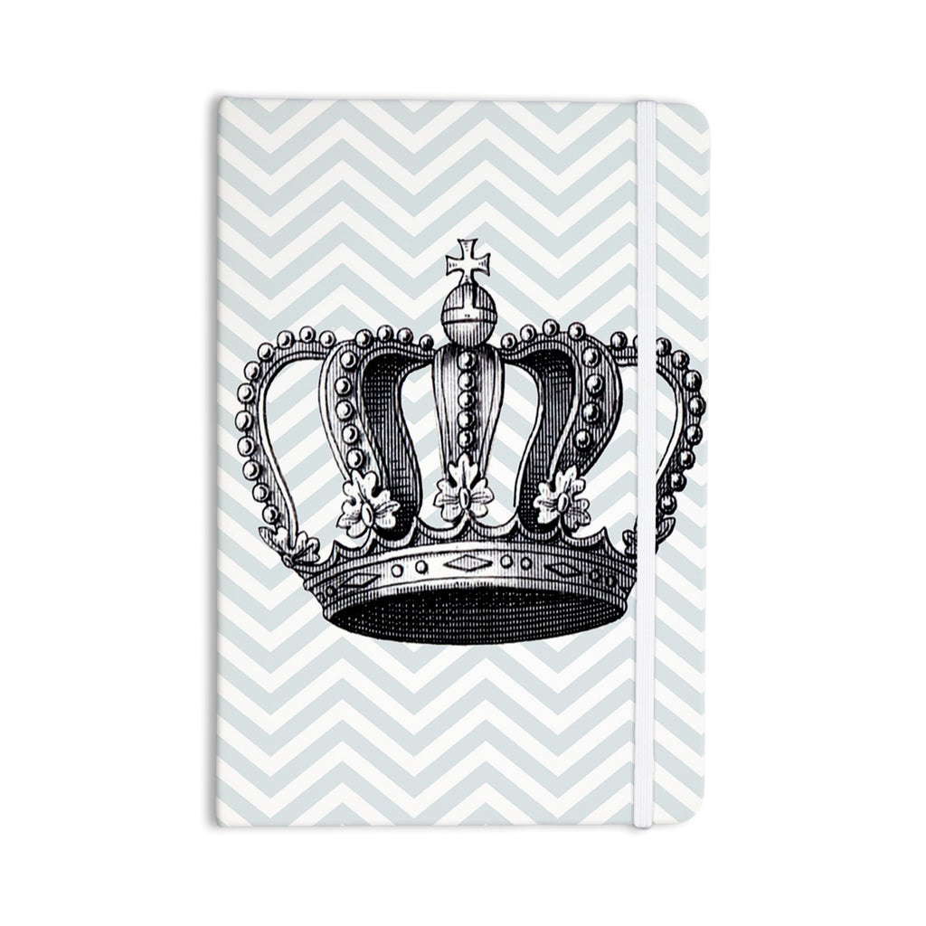 "Suzanne Carter ""Crown"" Blue Black Everything Notebook - KESS InHouse  - 1"