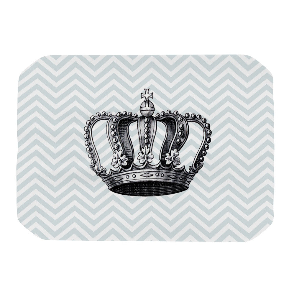 "Suzanne Carter ""Crown"" Blue Black Place Mat - KESS InHouse"