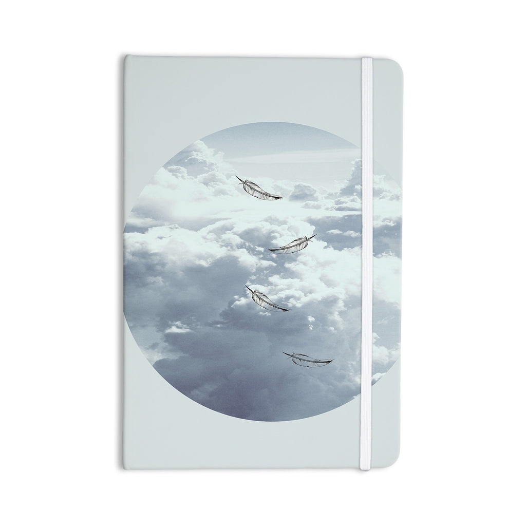 "Suzanne Carter ""Feathers"" White Gray Everything Notebook - KESS InHouse  - 1"