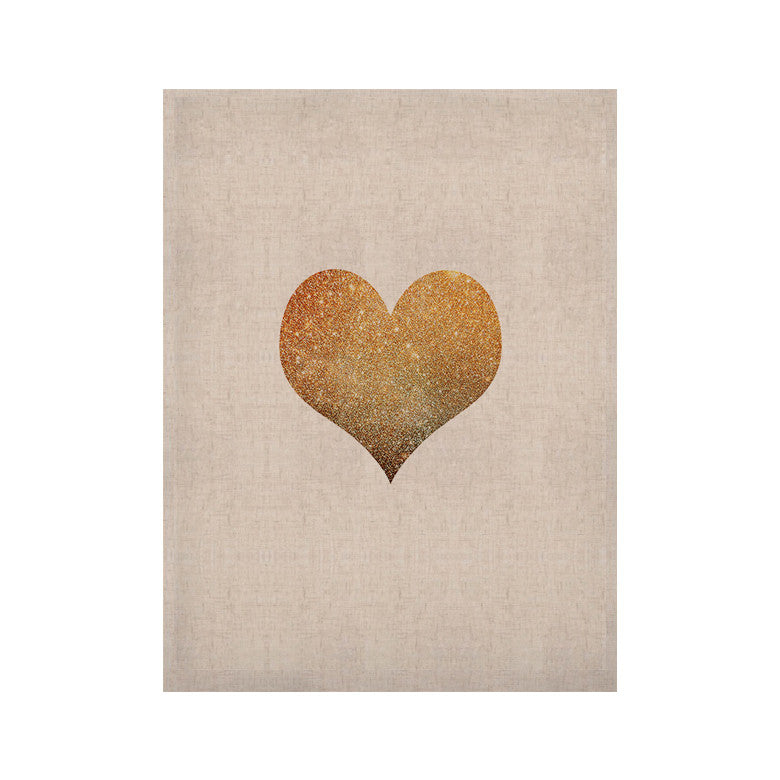"Suzanne Carter ""Gold Heart"" Glam KESS Naturals Canvas (Frame not Included) - KESS InHouse  - 1"