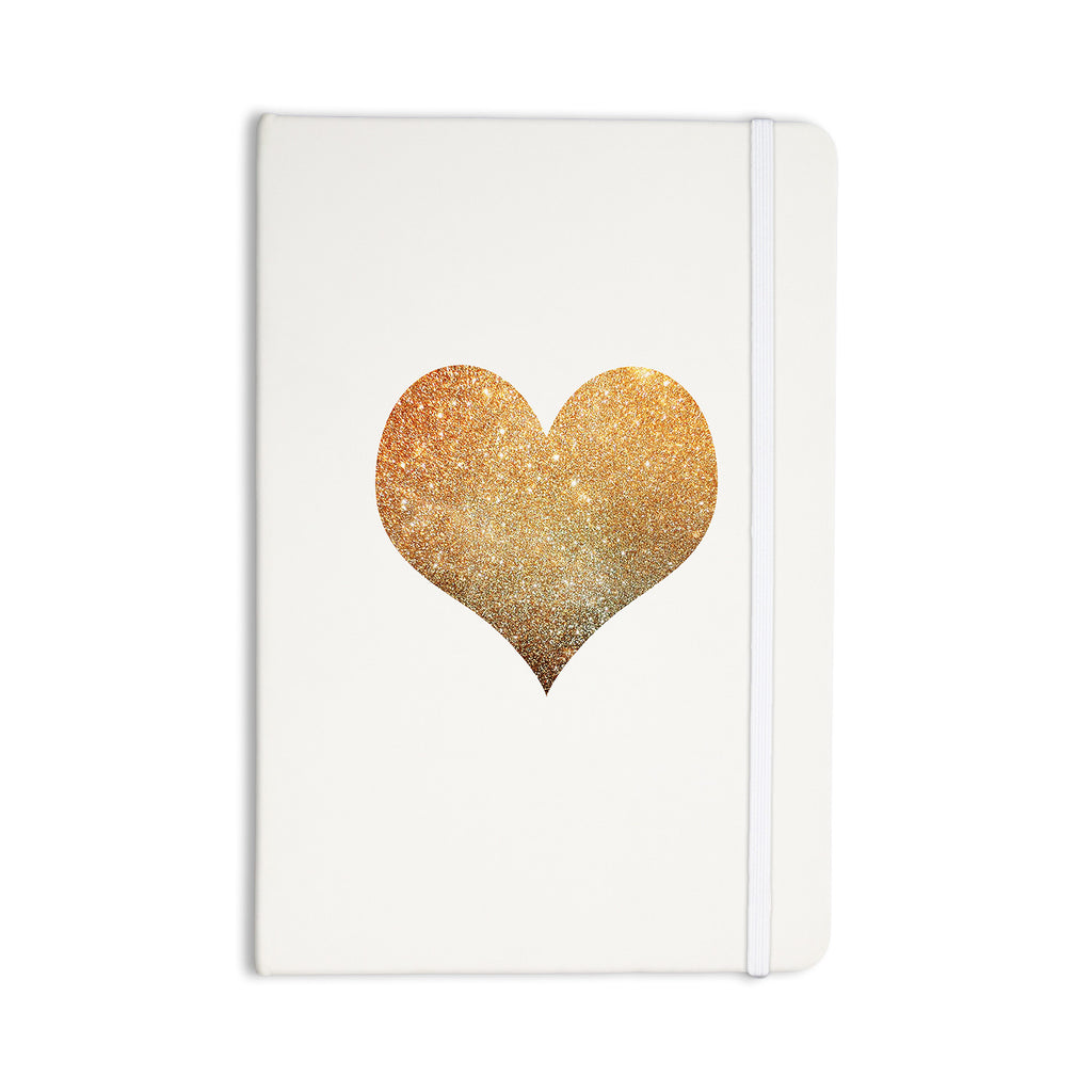 "Suzanne Carter ""Gold Heart"" Glam Everything Notebook - KESS InHouse  - 1"