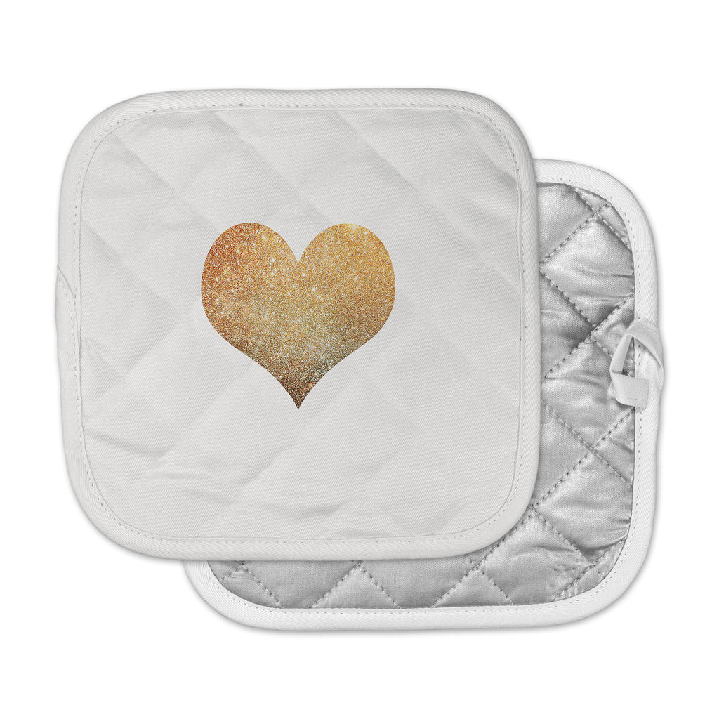 "Suzanne Carter ""Gold Heart"" Glam Pot Holder"