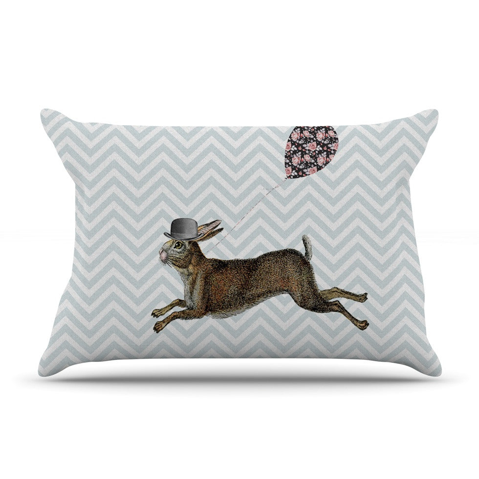 "Suzanne Carter ""Hare Today"" Rabbit Pillow Sham - KESS InHouse"