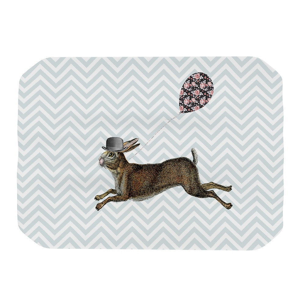 "Suzanne Carter ""Hare Today"" Rabbit Place Mat - KESS InHouse"