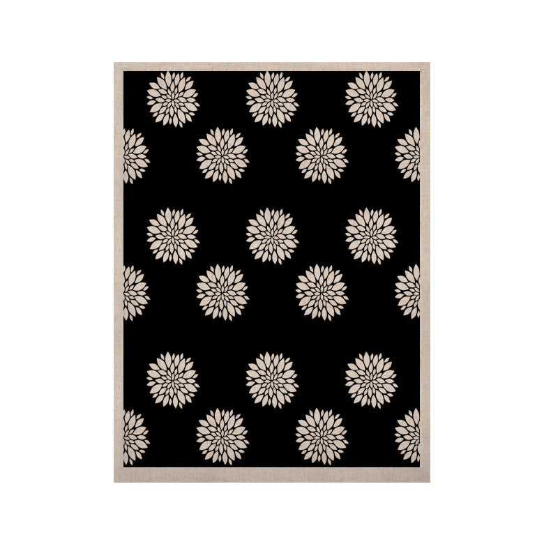 "Suzanne Carter ""Peony Rose"" Black White KESS Naturals Canvas (Frame not Included) - KESS InHouse  - 1"