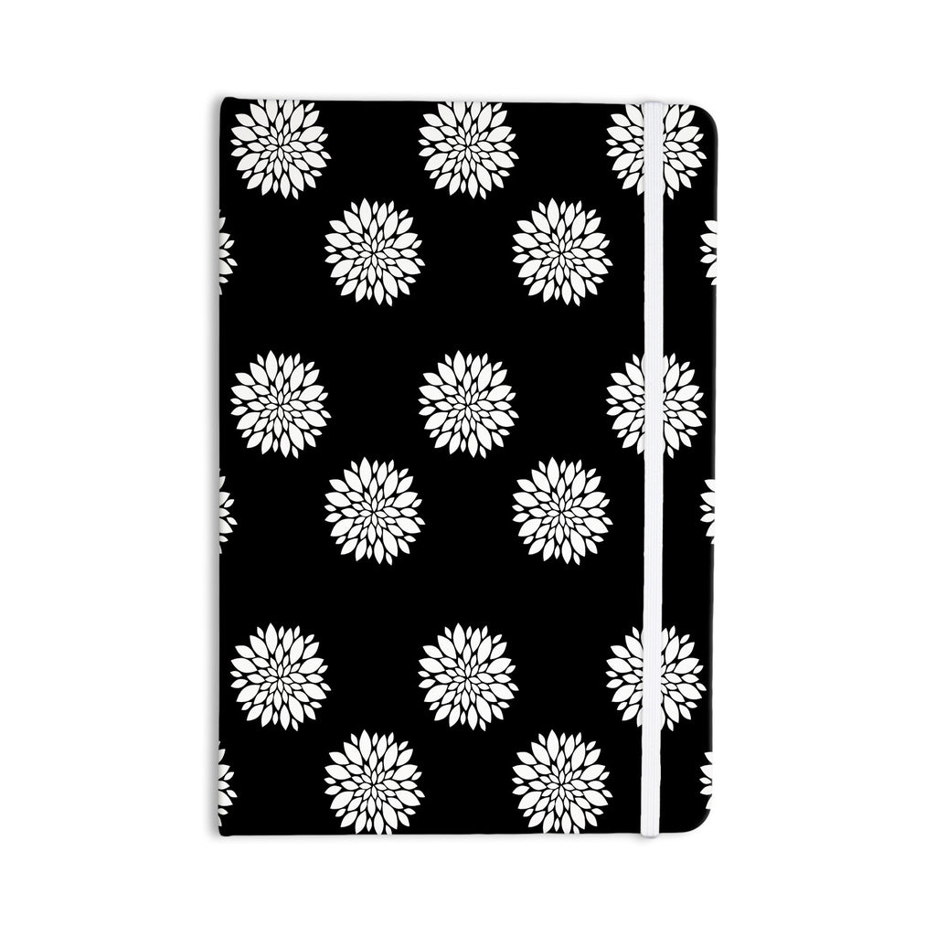 "Suzanne Carter ""Peony Rose"" Black White Everything Notebook - KESS InHouse  - 1"