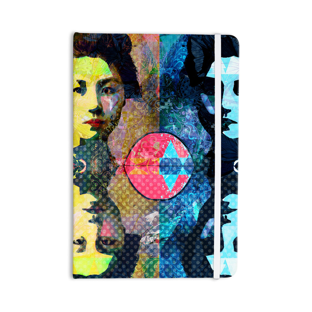 "Suzanne Carter ""Kimono Girl"" Yellow Blue Everything Notebook - KESS InHouse  - 1"
