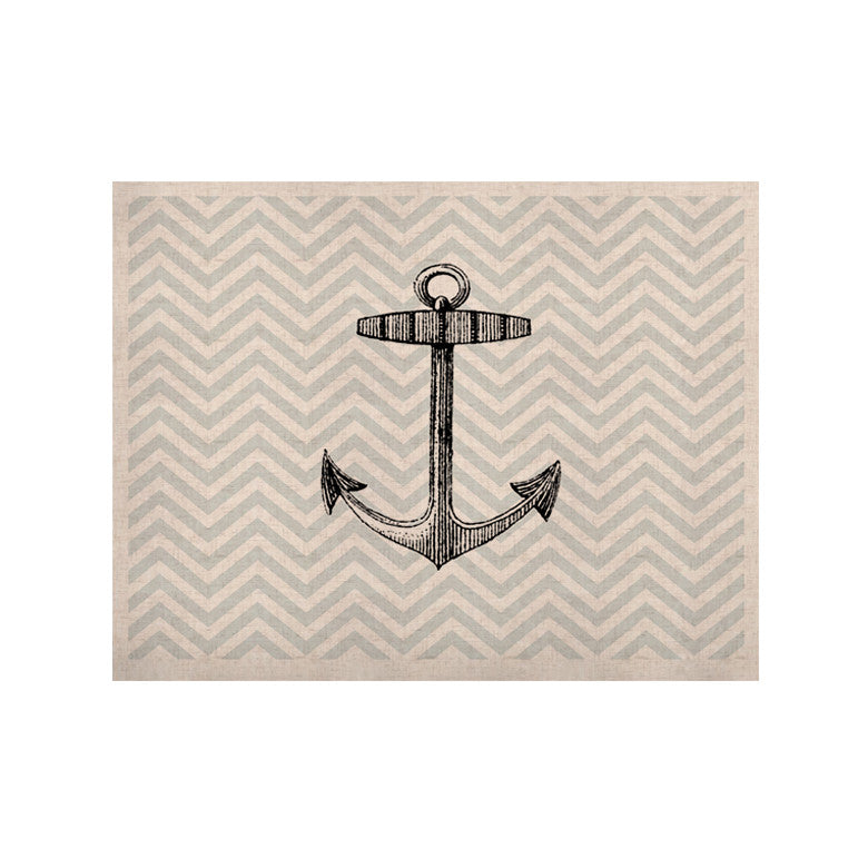 "Suzanne Carter ""Anchor"" Black Blue KESS Naturals Canvas (Frame not Included) - KESS InHouse  - 1"