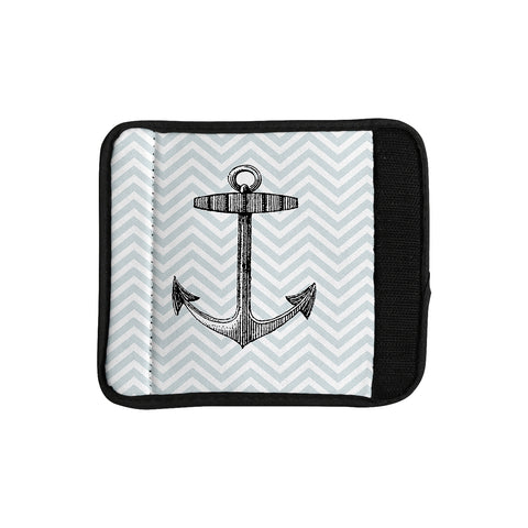 "Suzanne Carter ""Anchor"" Black Blue Luggage Handle Wrap - Outlet Item - KESS InHouse"