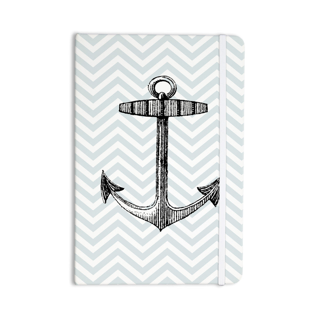 "Suzanne Carter ""Anchor"" Black Blue Everything Notebook - KESS InHouse  - 1"