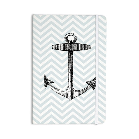 "Suzanne Carter ""Anchor"" Black Blue Everything Notebook - Outlet Item"