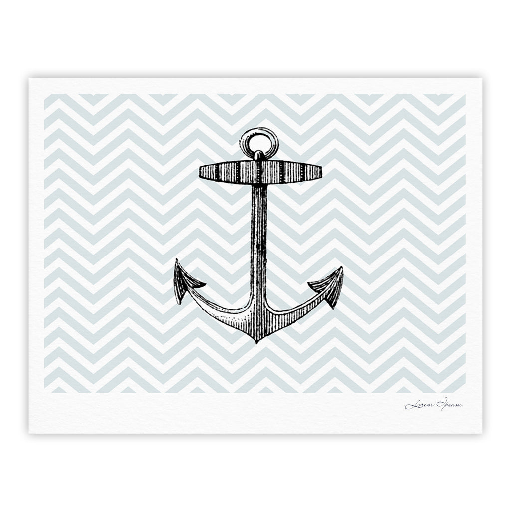 "Suzanne Carter ""Anchor"" Black Blue Fine Art Gallery Print - KESS InHouse"