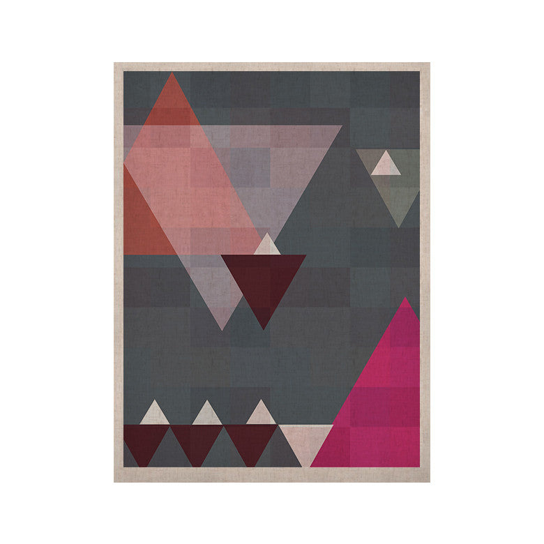 "Suzanne Carter ""Geo II"" Gray Geometric KESS Naturals Canvas (Frame not Included) - KESS InHouse  - 1"