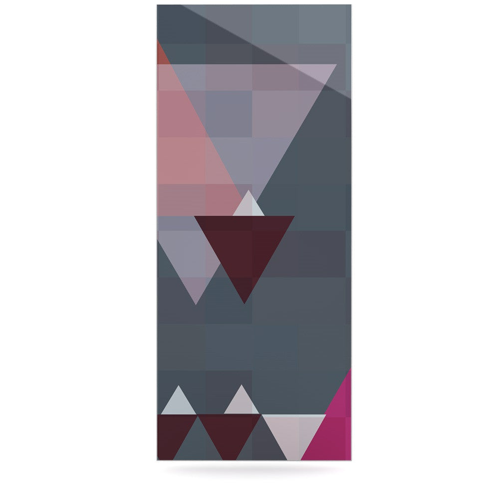 "Suzanne Carter ""Geo II"" Gray Geometric Luxe Rectangle Panel - KESS InHouse  - 1"