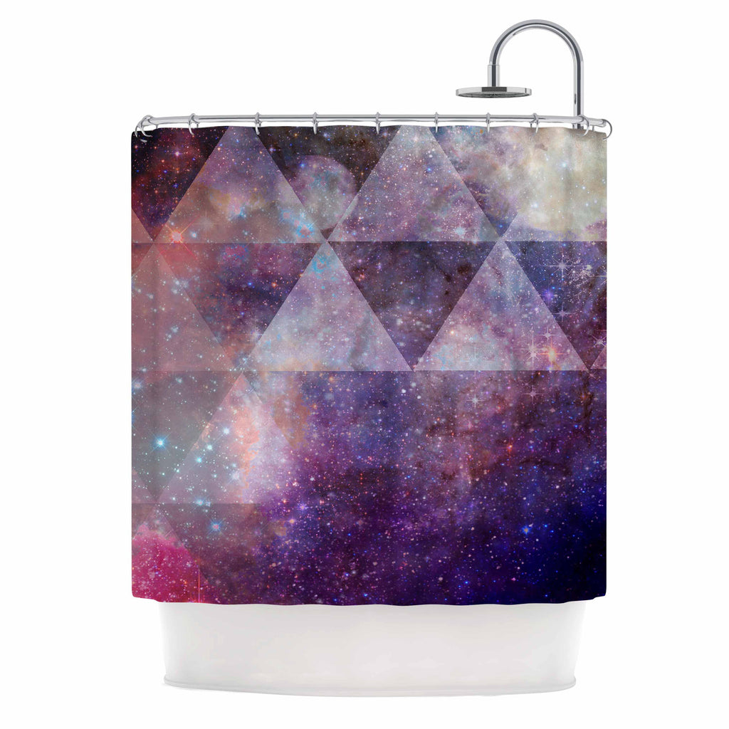 Geometric Stars By Suzanne Carter Shower Curtain