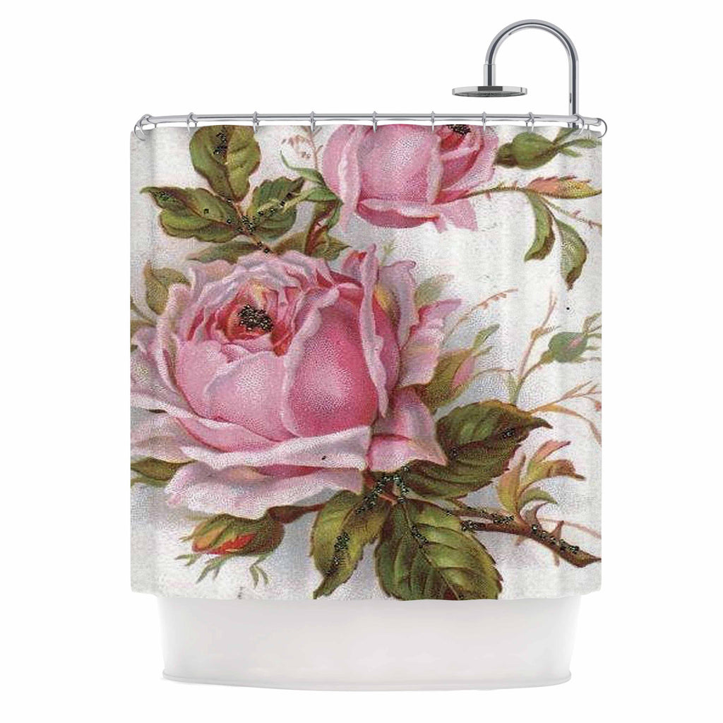 Vintage Rose Shower Curtain By Suzanne Carter