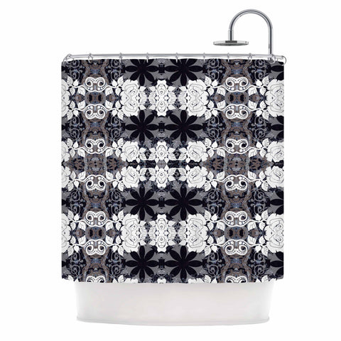 "Suzanne Carter ""Lacey"" Black Gray Shower Curtain - Outlet Item - KESS InHouse"