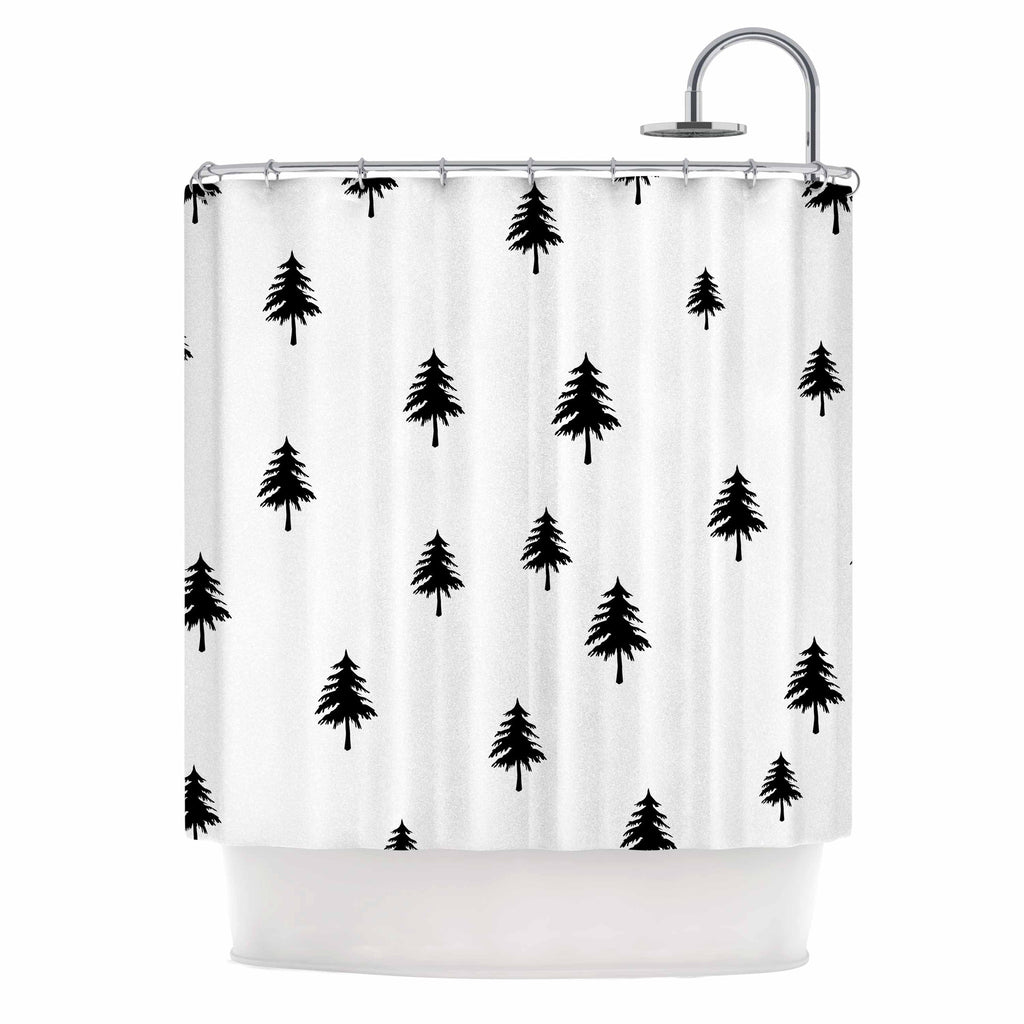 Pine Tree Shower Curtain By Suzanne Carter Kess Inhouse