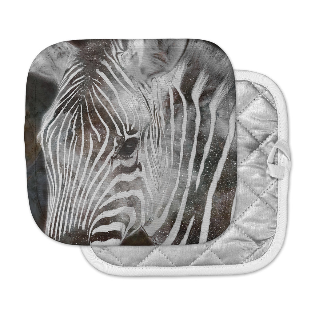 "Suzanne Carter ""Space Zebra"" Celestial Stripes Pot Holder"