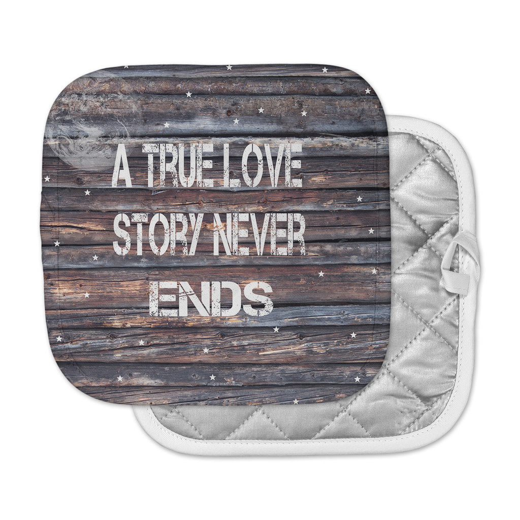 "Suzanne Carter ""True Love"" Contemporary Typography Pot Holder"