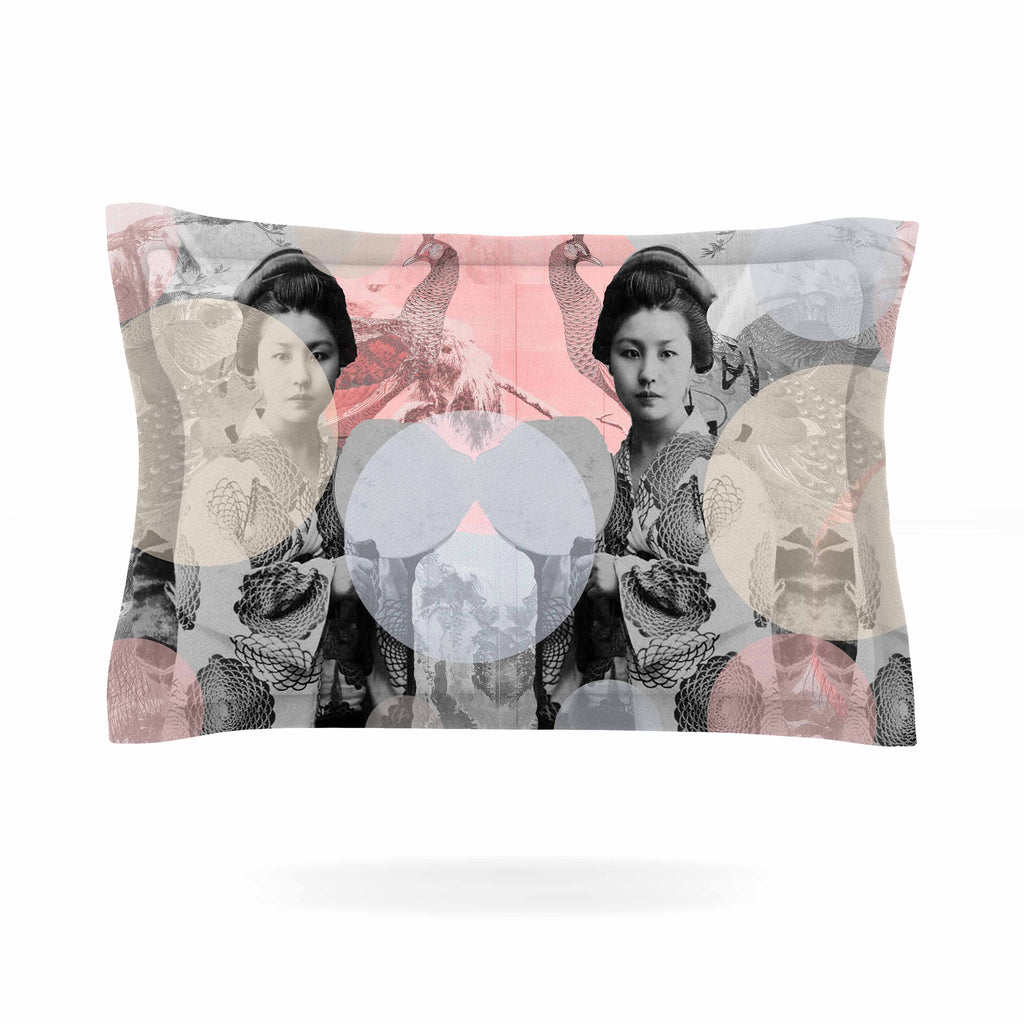 "Suzanne Carter ""Kyoto Girl"" Gray Pastel Pillow Sham - KESS InHouse  - 1"