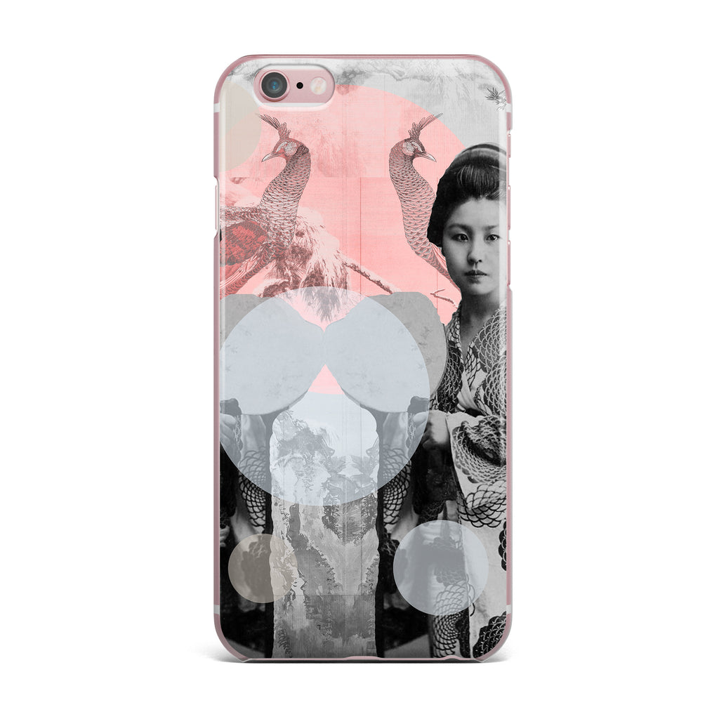 "Suzanne Carter ""Kyoto Girl"" Gray Pastel iPhone Case - KESS InHouse"