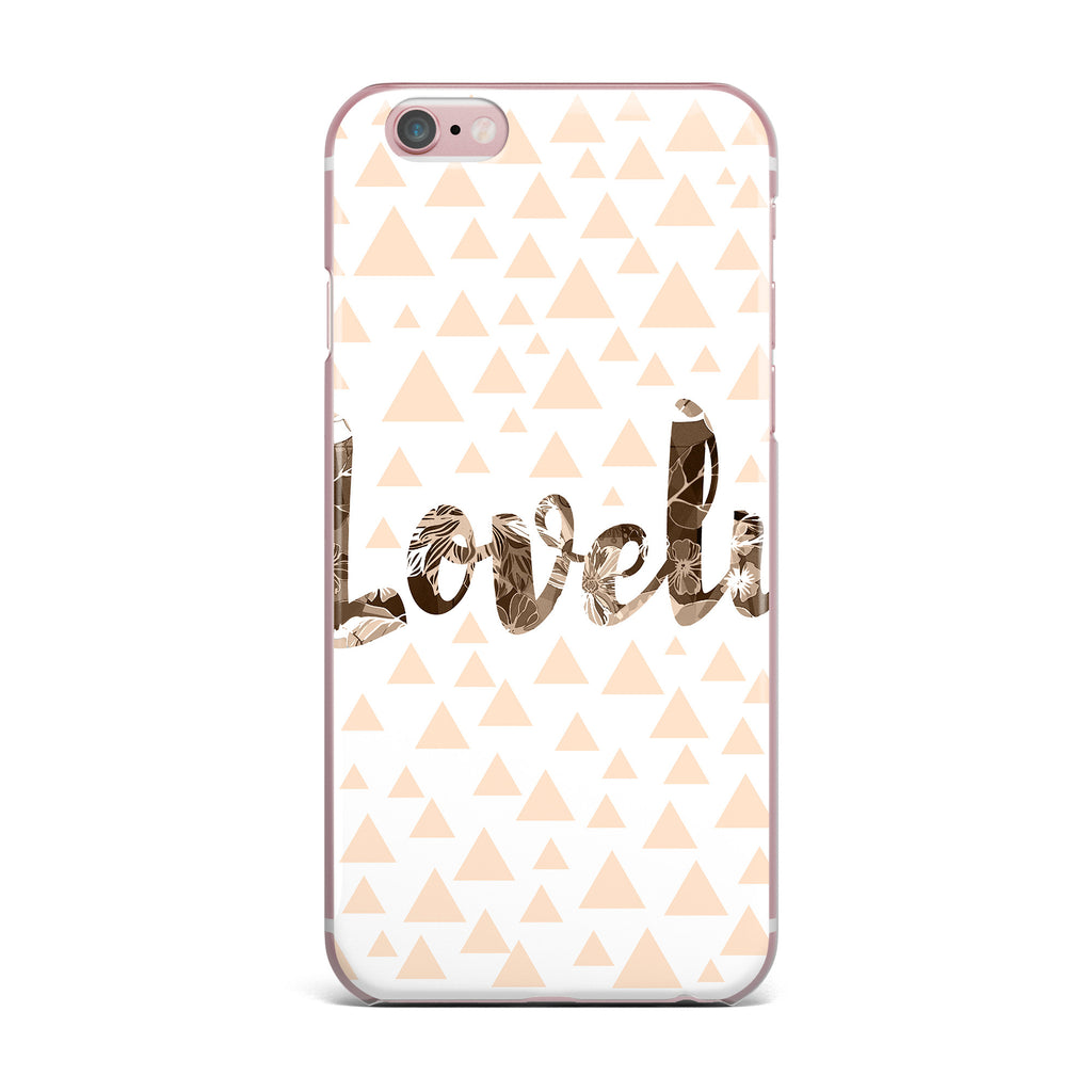 "Suzanne Carter ""Lovely"" Beige Digital iPhone Case - KESS InHouse"