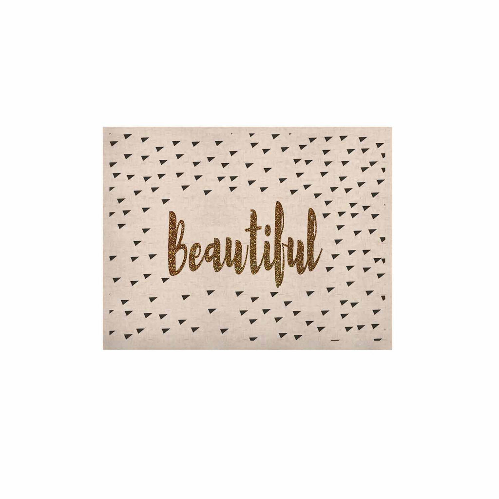 "Suzanne Carter ""Beautiful"" Gold Typography KESS Naturals Canvas (Frame not Included) - KESS InHouse  - 1"