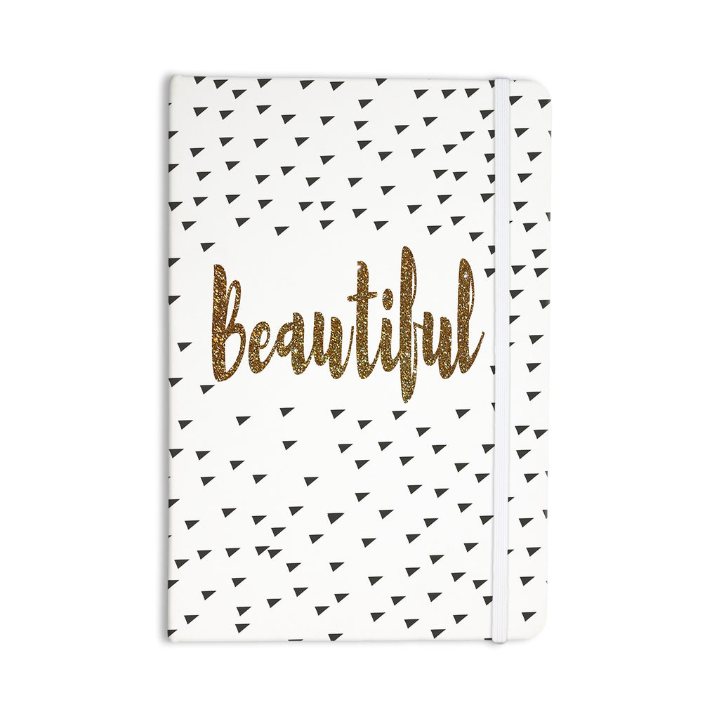 "Suzanne Carter ""Beautiful"" Gold Typography Everything Notebook - KESS InHouse  - 1"
