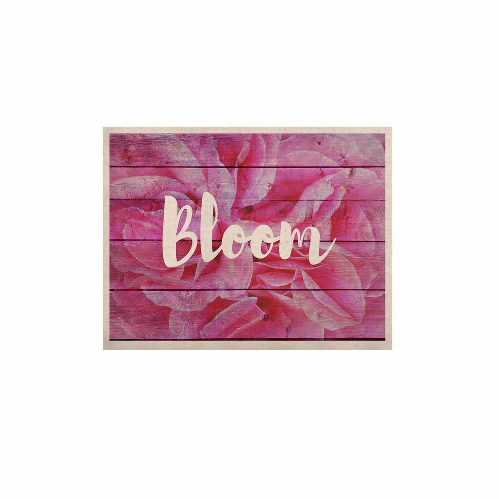 "Suzanne Carter ""Bloom Typography"" Pink Floral KESS Naturals Canvas (Frame not Included) - KESS InHouse  - 1"