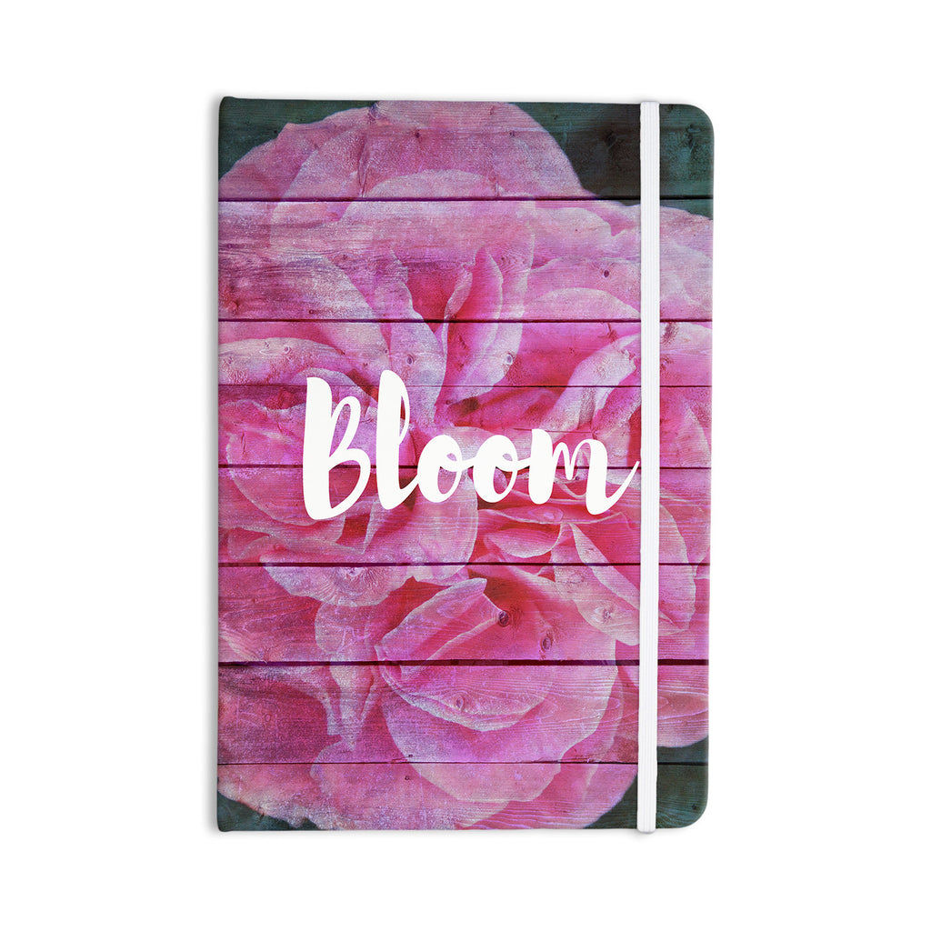 "Suzanne Carter ""Bloom Typography"" Pink Floral Everything Notebook - KESS InHouse  - 1"