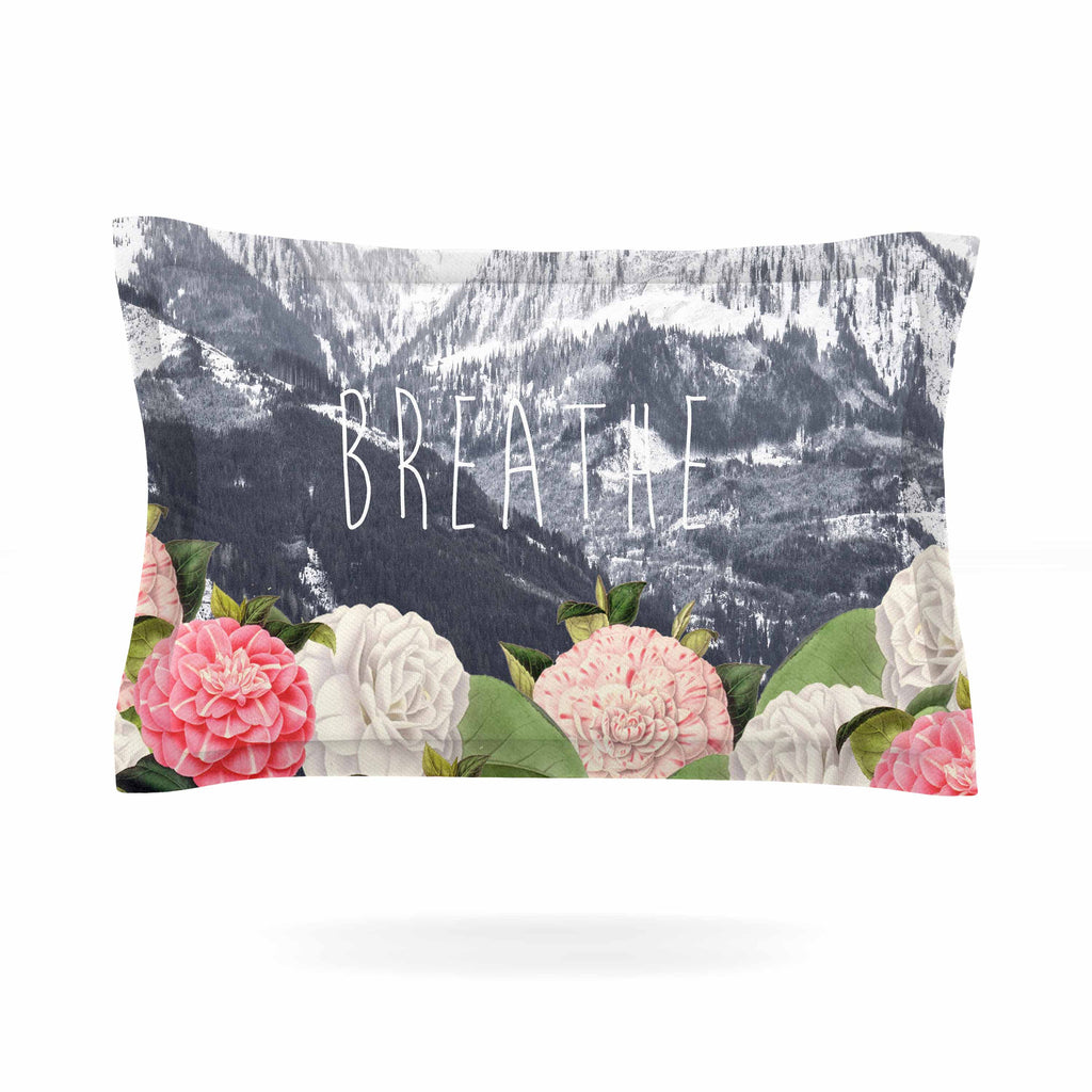 "Suzanne Carter ""Breathe"" Floral Landscape Pillow Sham - KESS InHouse  - 1"