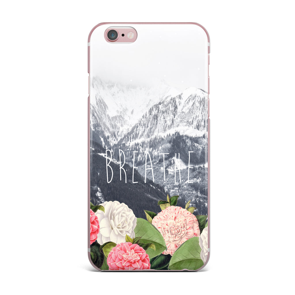 "Suzanne Carter ""Breathe"" Floral Landscape iPhone Case - KESS InHouse"