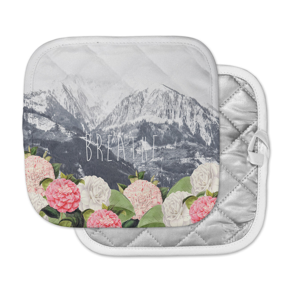 "Suzanne Carter ""Breathe"" Floral Landscape Pot Holder"