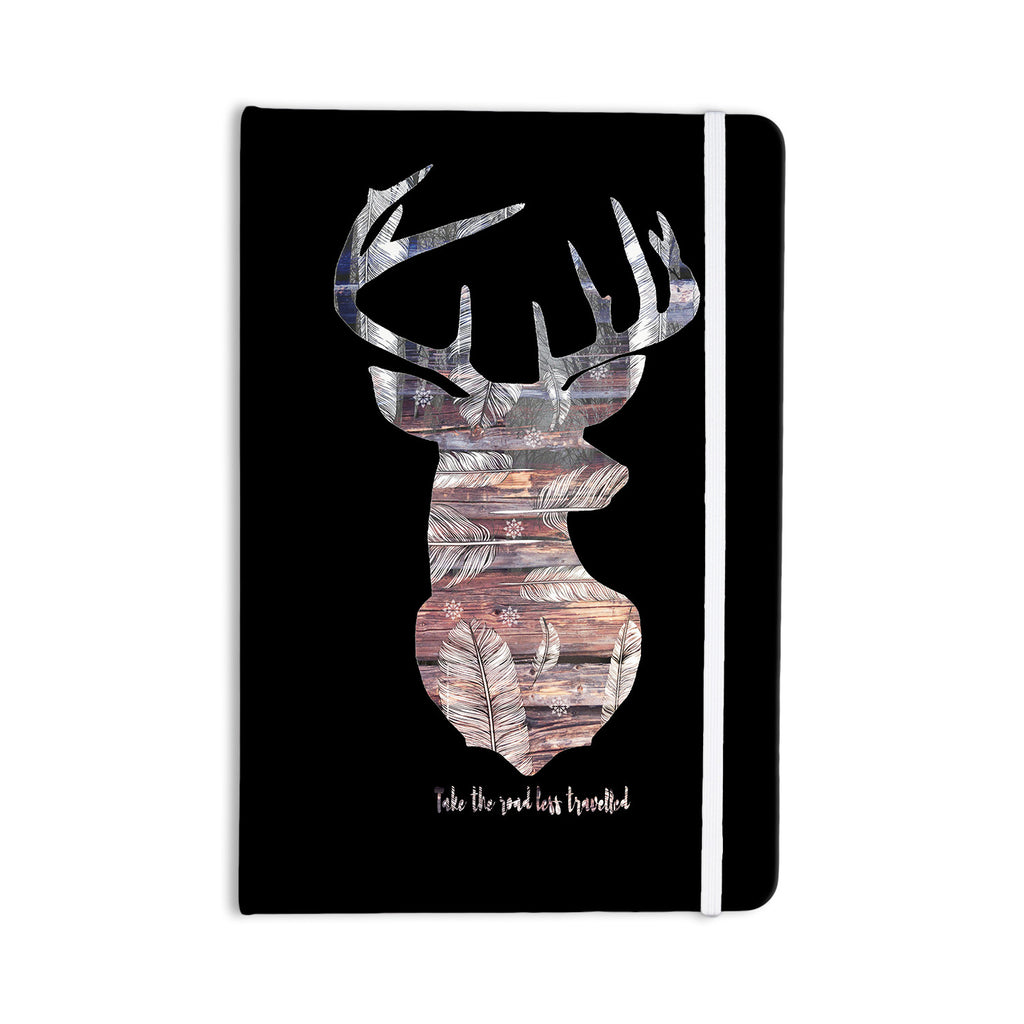 "Suzanne Carter ""The Road Black"" Black Brown Everything Notebook - KESS InHouse  - 1"