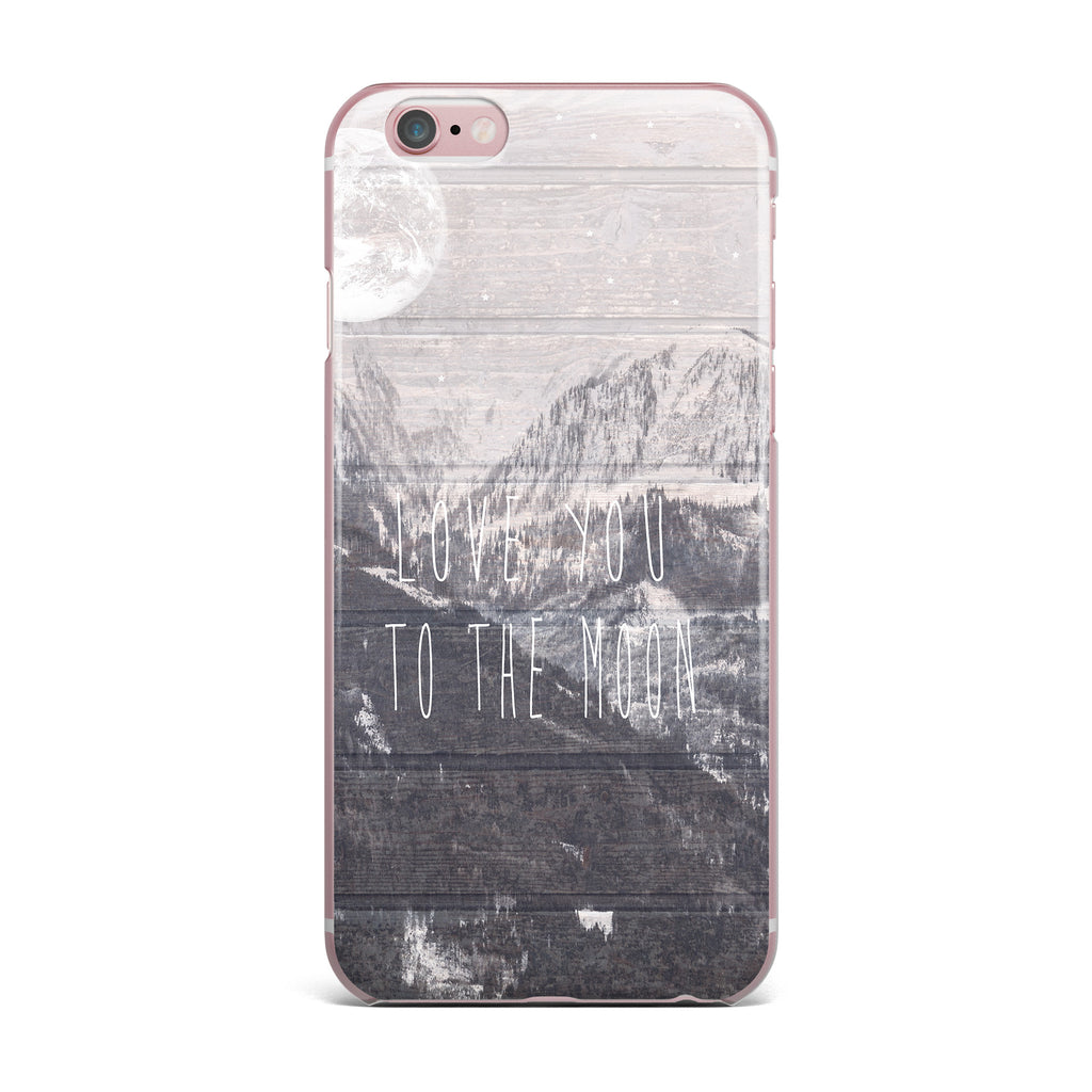 "Suzanne Carter ""Love You to The Moon"" Black White iPhone Case - KESS InHouse"