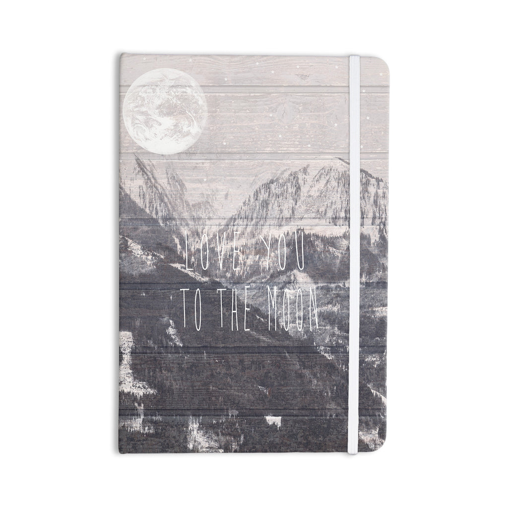 "Suzanne Carter ""Love You to The Moon"" Black White Everything Notebook - KESS InHouse  - 1"