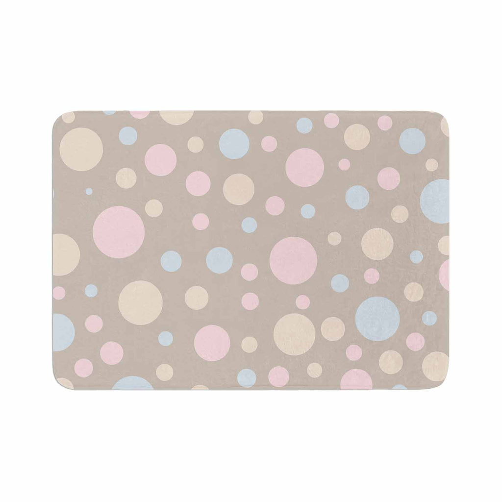 "Suzanne Carter ""Lotty"" Pink Blue Memory Foam Bath Mat - KESS InHouse"