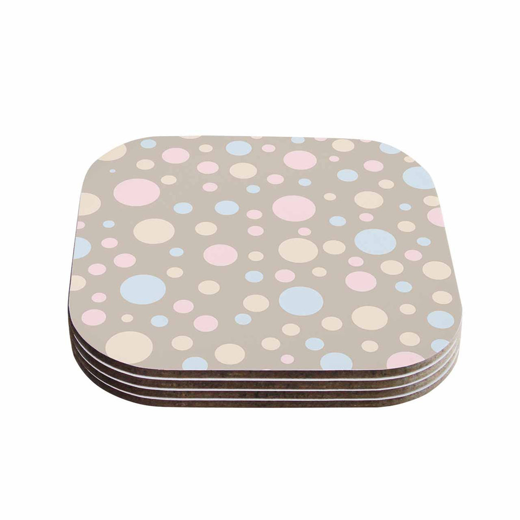"Suzanne Carter ""Lotty"" Pink Blue Coasters (Set of 4)"