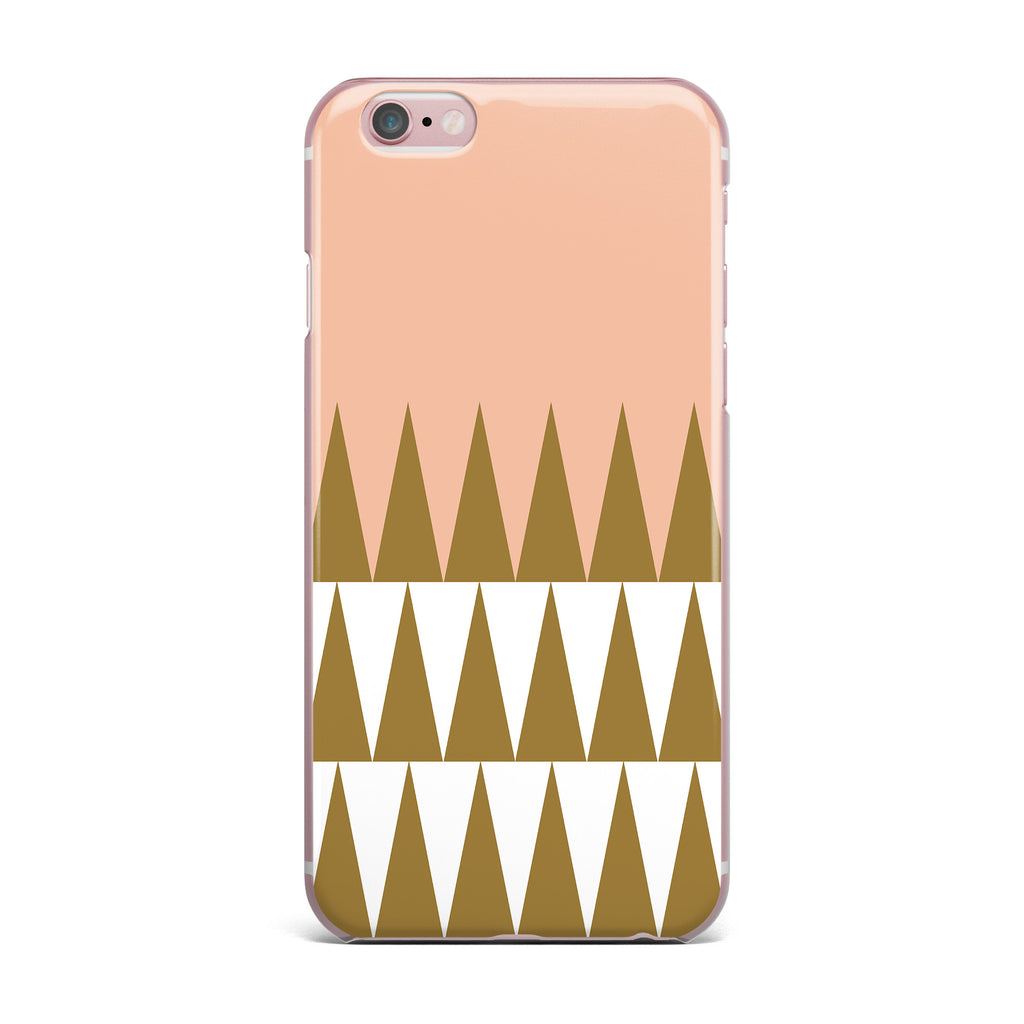 "Suzanne Carter ""Peach Geo"" Peach Black iPhone Case - KESS InHouse"