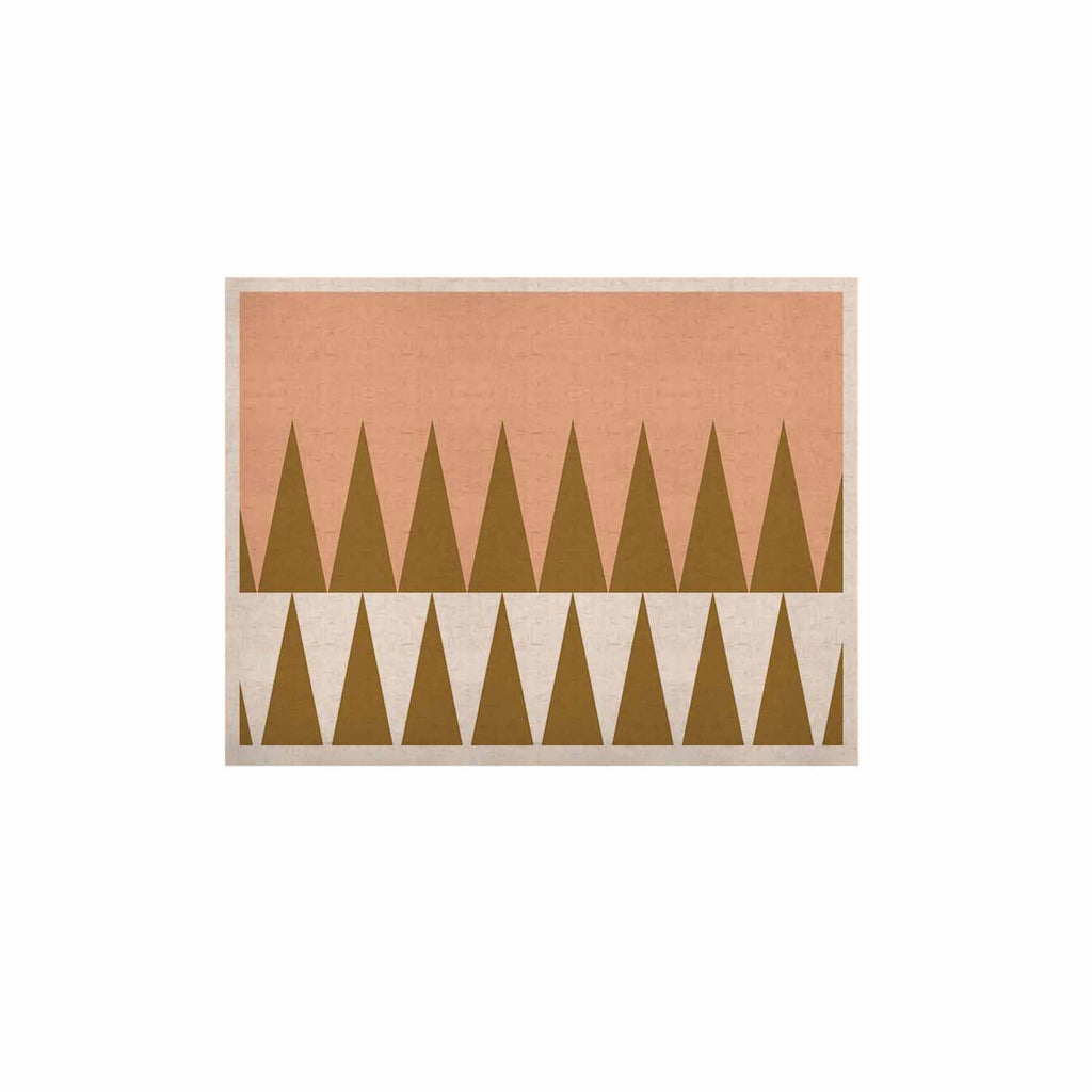 "Suzanne Carter ""Peach Geo"" Peach Black KESS Naturals Canvas (Frame not Included) - KESS InHouse  - 1"