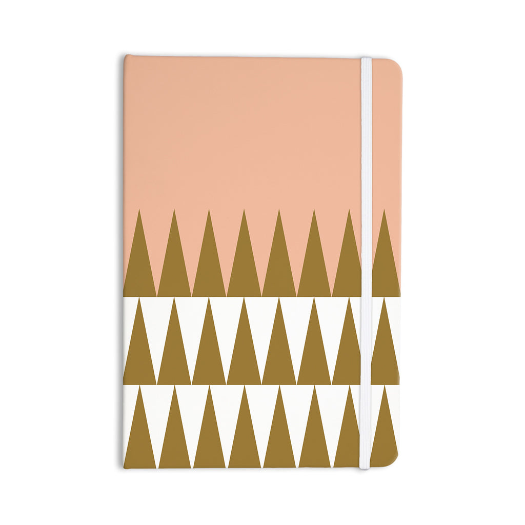 "Suzanne Carter ""Peach Geo"" Peach Black Everything Notebook - KESS InHouse  - 1"